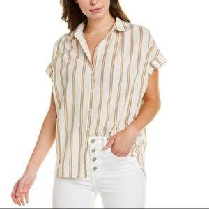 Madewell Linen Blend Central Shirt - Medium NWT